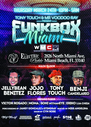 Funkbox MIAMI, half page ad in The List publication